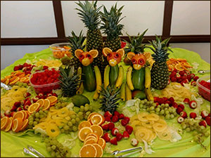 Photo of one of Johnston's fun catered table
