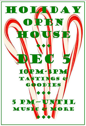 Holiday Open House Dec 5th 2020