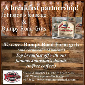 Bumpy Roads Grits and Johnston's Homemade Sausage